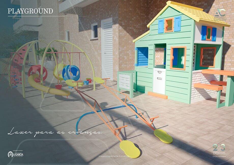 Playground - Residencial Antônio Carvalho - Praia Grande