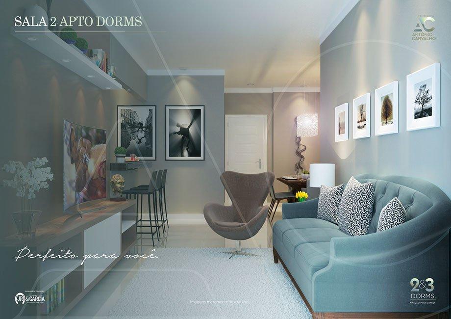 Sala Apartamento - Residencial Antônio Carvalho - Praia Grande