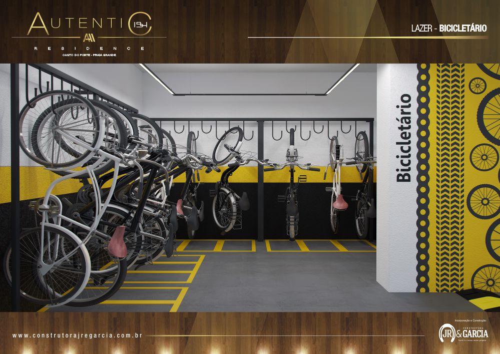 Bicicletário - Autentic 154 Residence - Canto do Forte, Praia Grande