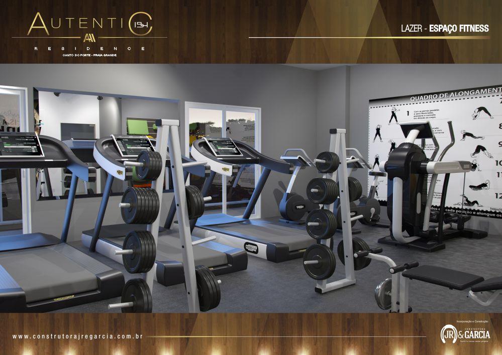 Espaço Fitness - Autentic 154 Residence - Canto do Forte, Praia Grande