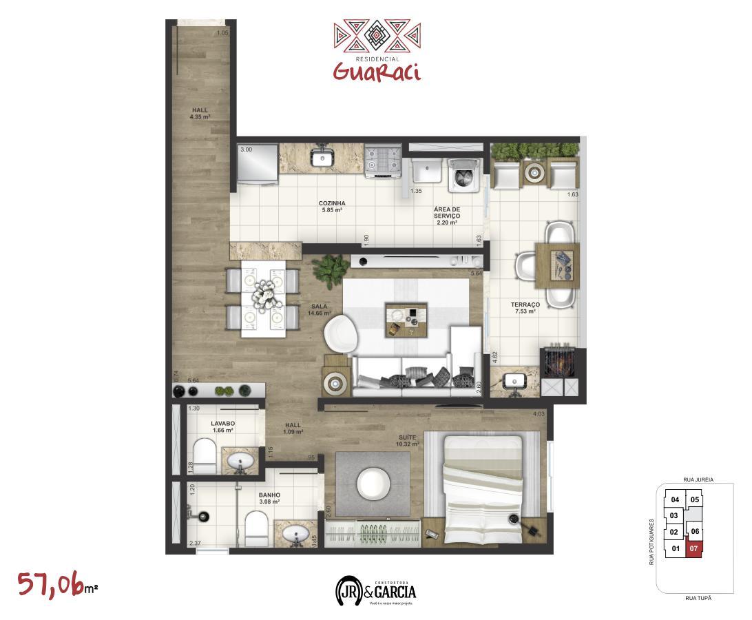 Apartamento 17-177 - 57,06 m²
