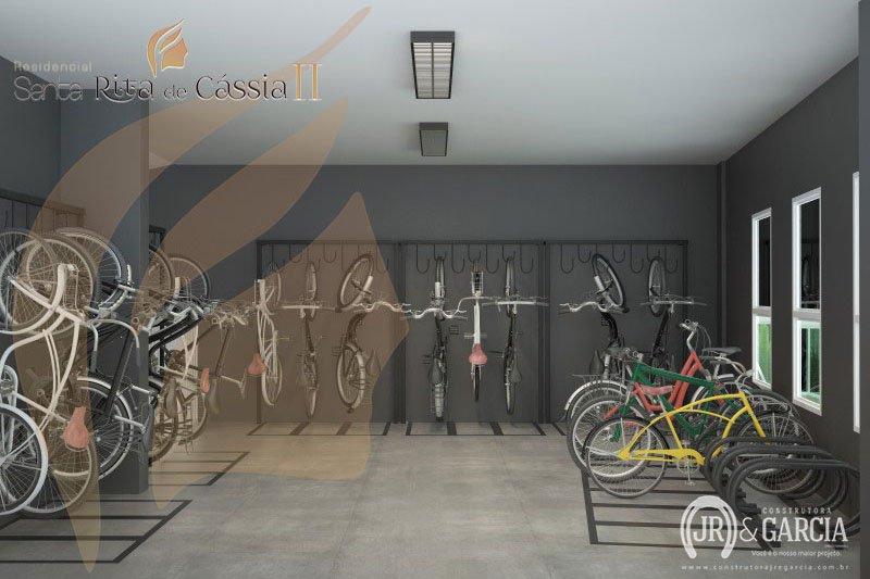 Bicicletário - Residencial Santa Rita de Cássia II - Aviação, Praia Grande