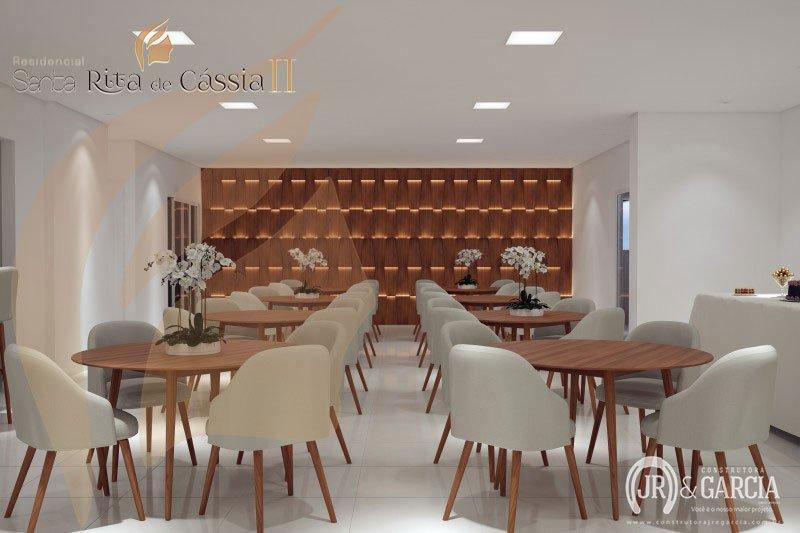 Salão de Festas - Residencial Santa Rita de Cássia II - Aviação, Praia Grande