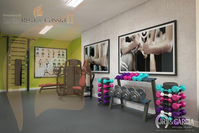 Espaço Fitness - Residencial Santa Rita de Cássia II - Aviação, Praia Grande