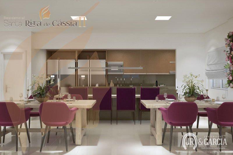 Espaço Gourmet - Residencial Santa Rita de Cássia II - Aviação, Praia Grande