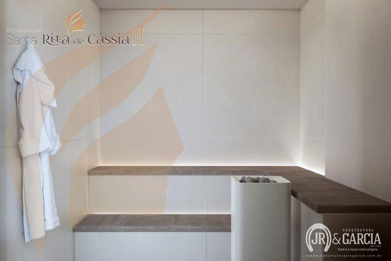 Sauna - Residencial Santa Rita de Cássia II - Aviação, Praia Grande