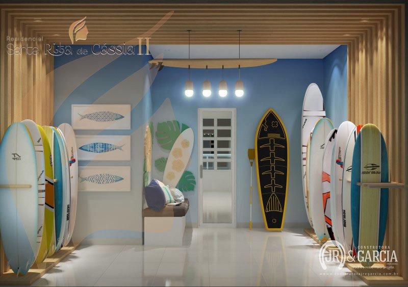 Espaço Surf - Residencial Santa Rita de Cássia II - Aviação, Praia Grande