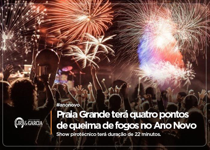 Praia Grande terá quatro pontos de queima de fogos no Ano Novo