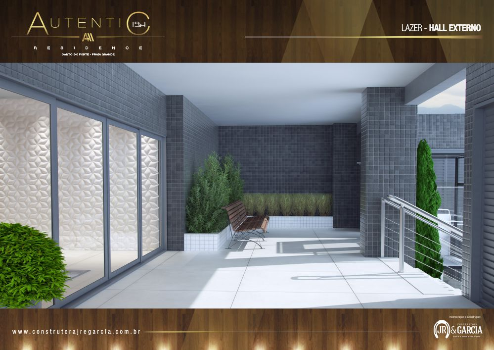 Hall Externo - Autentic 154 Residence - Canto do Forte, Praia Grande