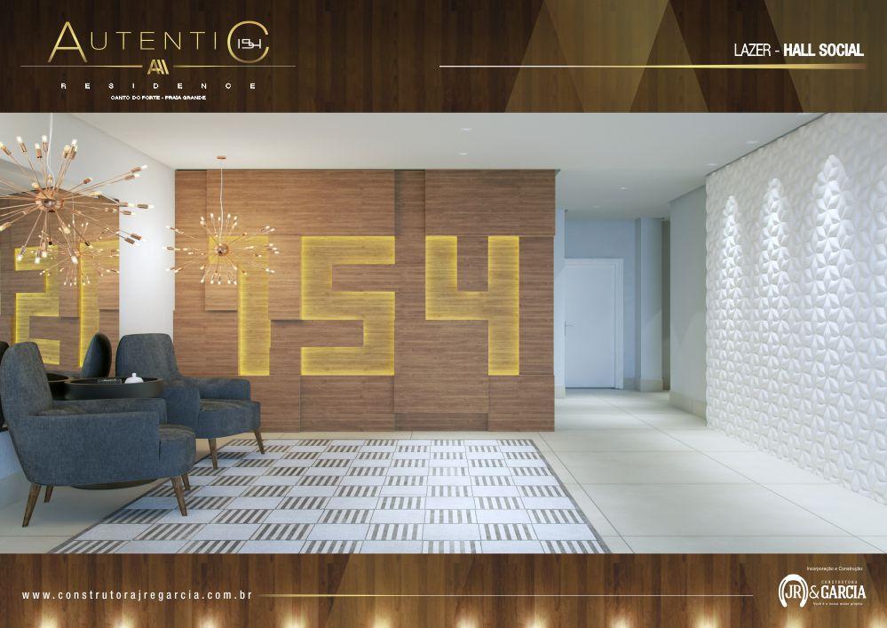 Hall Social - Autentic 154 Residence - Canto do Forte, Praia Grande