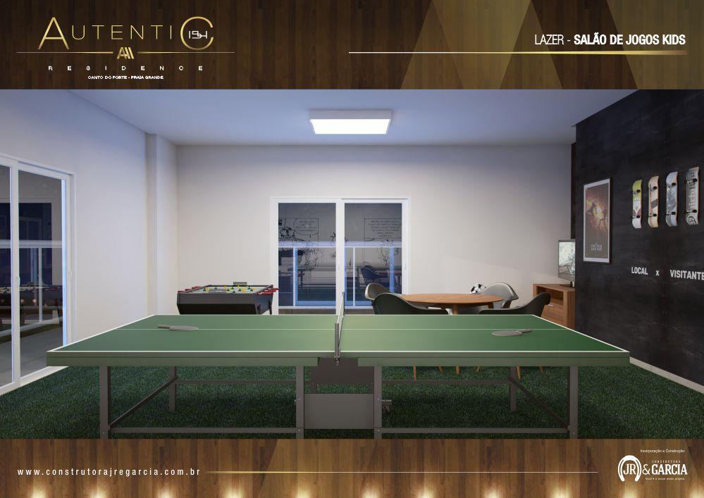 Salão de Jogos Kids - Autentic 154 Residence - Canto do Forte, Praia Grande