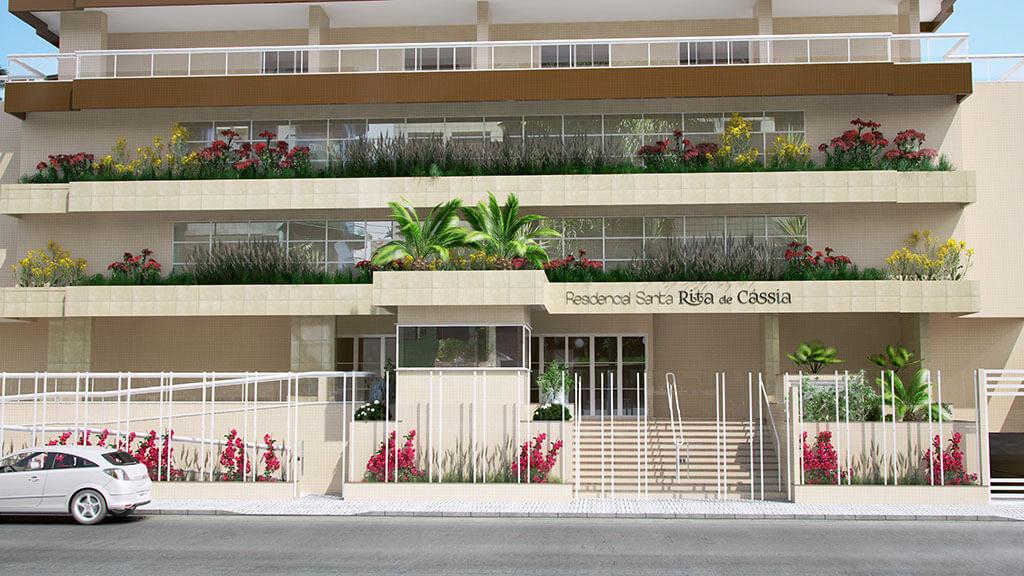 Entrada - Residencial Santa Rita de Cássia - Construtora JR e Garcia