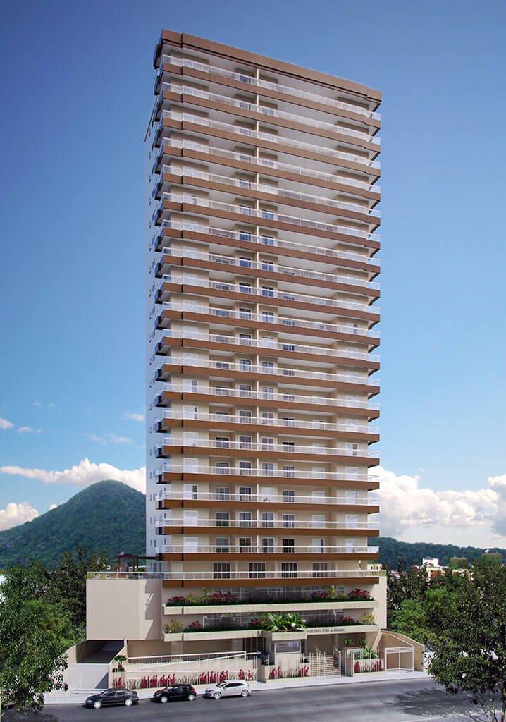 Fachada - Residencial Santa Rita de Cássia - Construtora JR e Garcia
