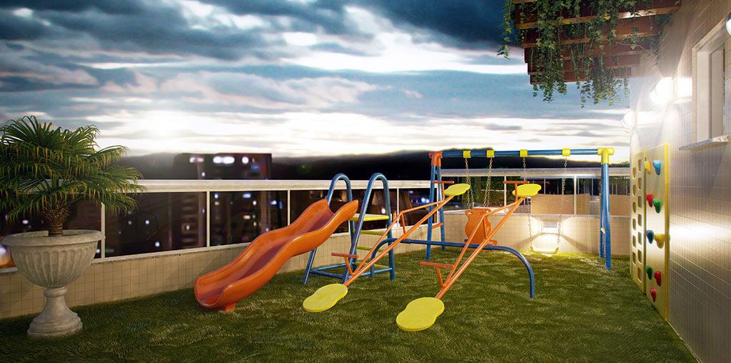 Playground - Residencial Santa Rita de Cássia - Construtora JR e Garcia