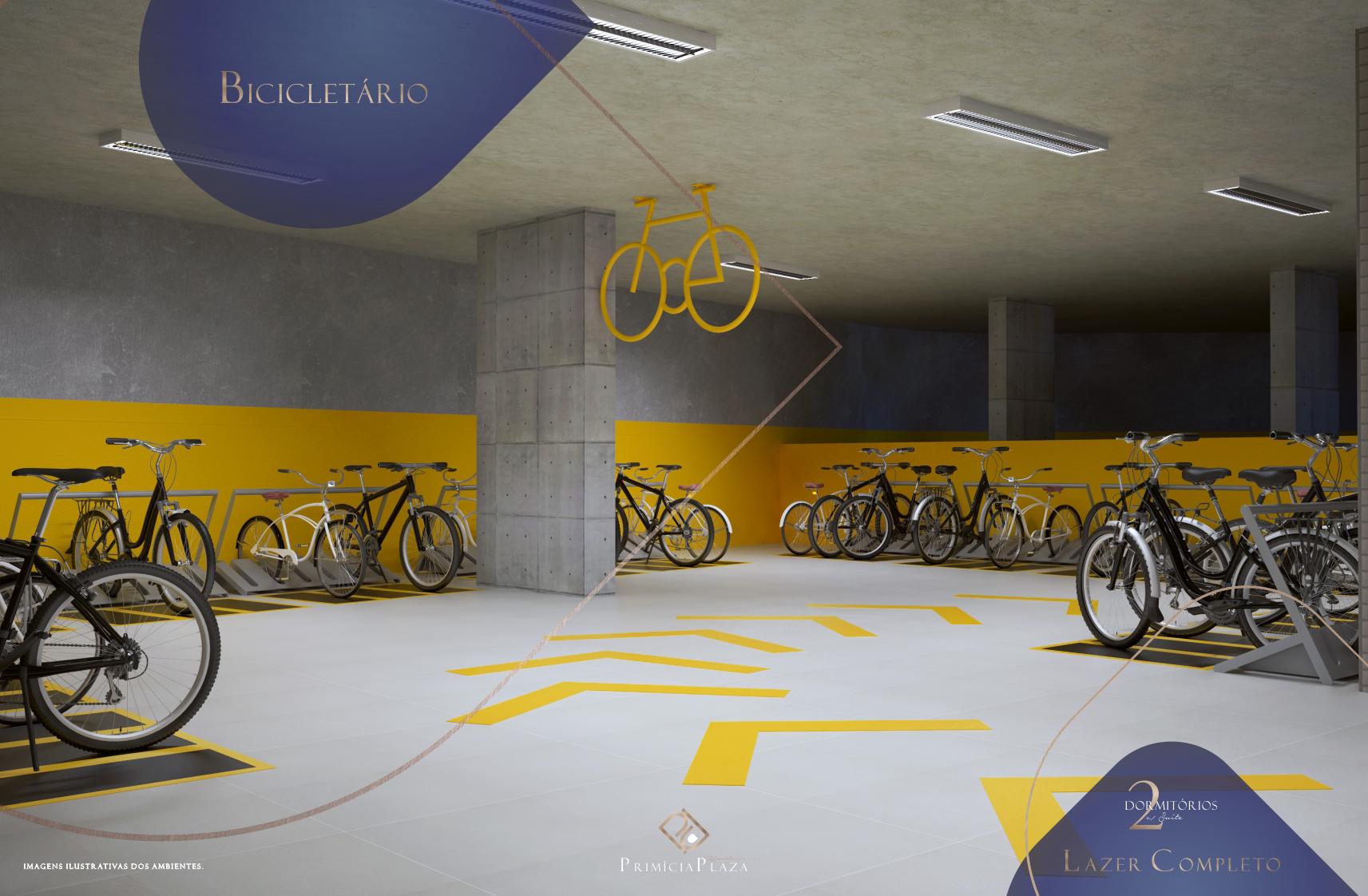 Bicicletário - Residencial Primícia Plaza- Vila Guilhermina Praia Grande