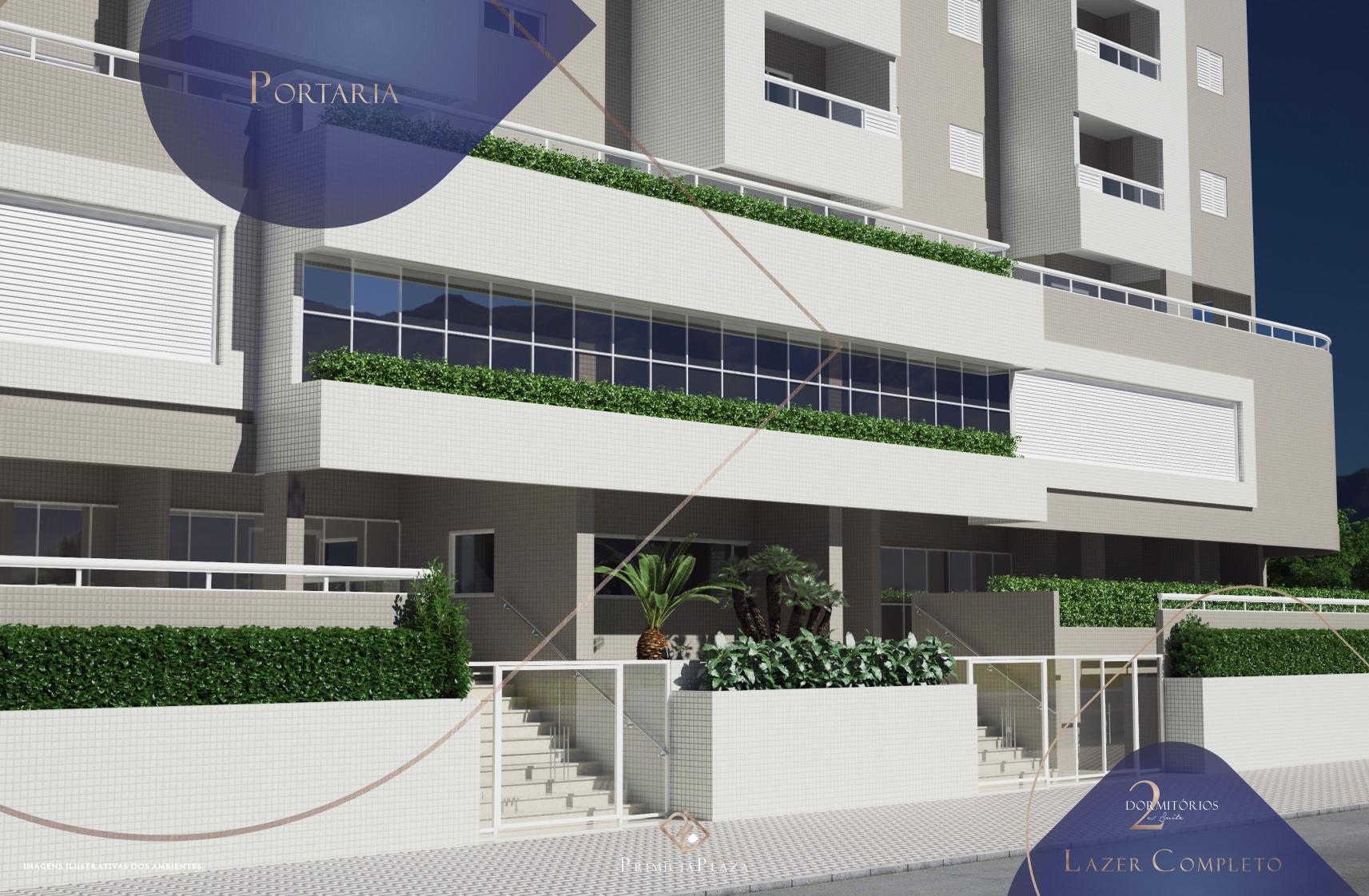 Fachada - Residencial Primícia Plaza- Vila Guilhermina Praia Grande