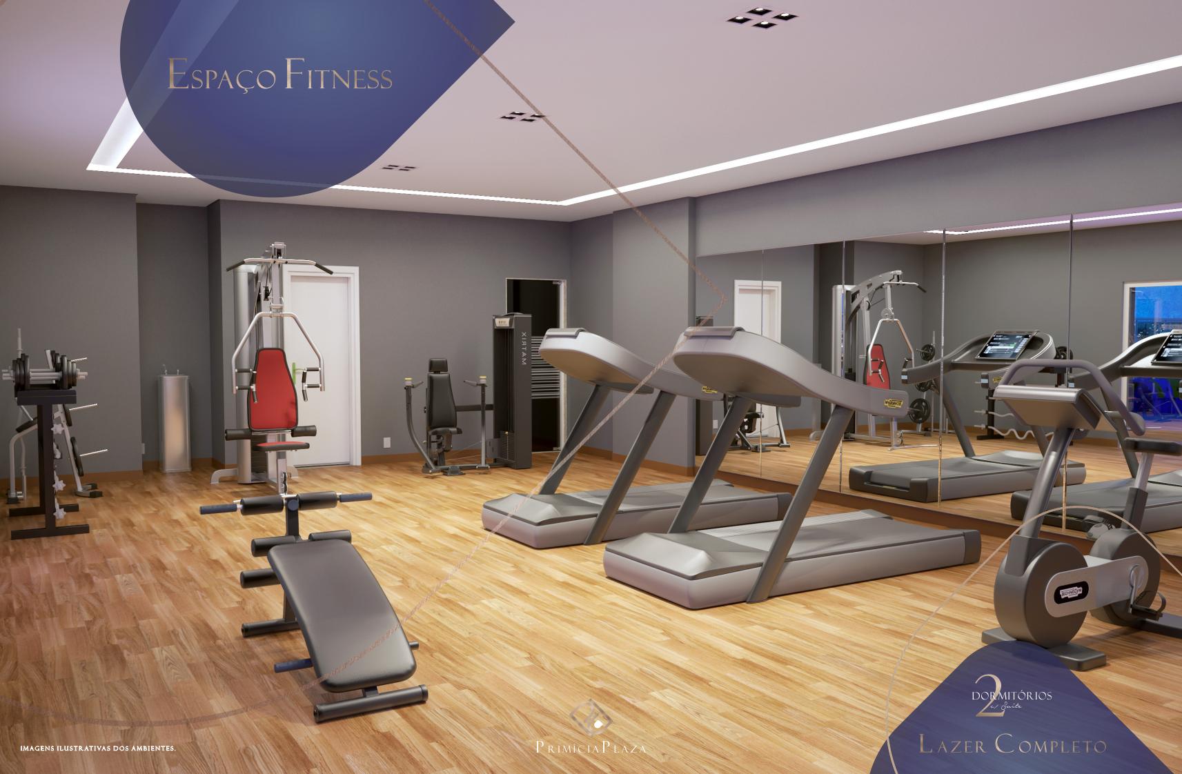 Espaço Fitness - Residencial Primícia Plaza- Vila Guilhermina Praia Grande